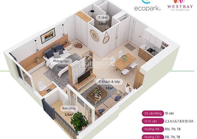 Cần bán CCCC WestBay - Ecopark