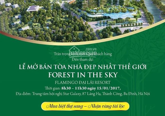 Mở bán tòa nhà đẹp nhất hành tinh Forest In The Sky Flamingo Đại Lải, hotline 0912.998.980